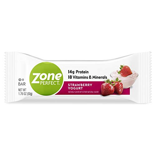 ZonePerfect Protein Bars, Strawberry Yogurt, High Protein, With Vitamins & Minerals (30 Count)