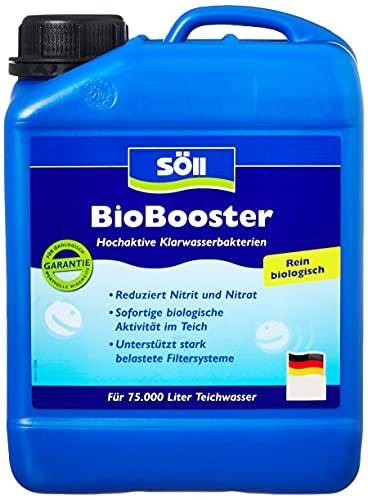 Söll 14422 BioBooster vijverbacteriën voor helder water, puur biologisch 2,5 l – zeer actieve helder waterbacteriën verminderen nitriet nitraat in de tuinvijver visvijver zwemvijver koivijver