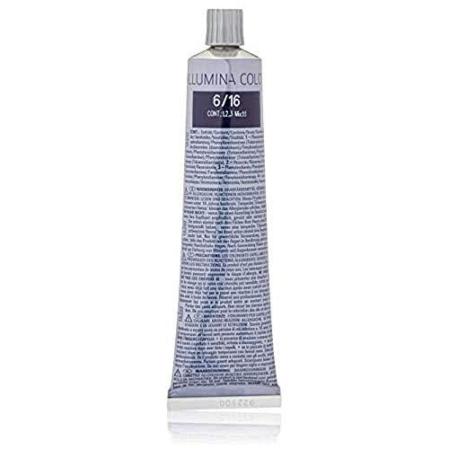 Wella Illumina Haarfarbe 6/ 16 dunkelblond asch-violett, 60 ml