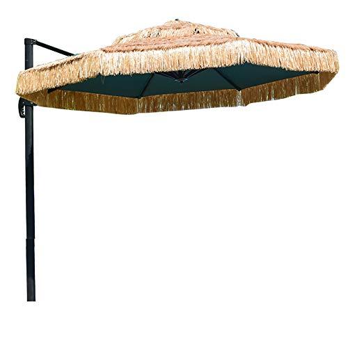 Ombrellone da Giardino Stile Hawaii, Ombrellone da Spiaggia in Paglia Tropicale Hawaii Ombrellone Grande da Esterno per Piscina, Gazebo, Terrazze, Bar, Hotel, Balconi,11.7 FT