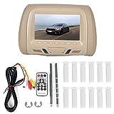 Monitor per poggiatesta per monitor per auto, monitor per poggiatesta per auto universale da 7 pollici MP5 Video Media Player ad alta definizione(Beige)