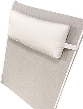 Sunbrella Headrest Pillow -fits Ledge Lounger (Natural (White))