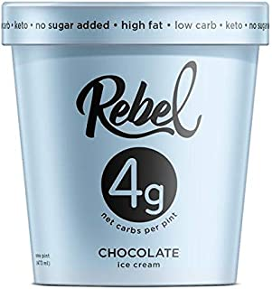 Rebel Ice Cream - Low Carb, Keto - Chocolate (8 Count)