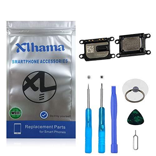 Xlhama 2-Pack Ensamblaje Auricular Altavoz Interno Compatible con iPhone 7 o iPhone 8 Ear Speaker de Repuesto con Kit Desmontaje transformación de reemplazo con Completa Herramientas Incluidas