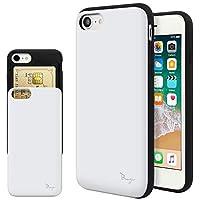 iPhone8 Plus ケース iPhone7Plus ケース TPU バンパー Bumper 耐衝撃 カード入れ マット加工 ワイヤレス充電対応 スマホケース 擦り傷防止 保護フィルム Breeze 3DP 正規品 [I8PJP207IR]
