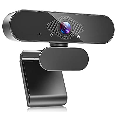Teaisiy USB Webcam with Microphone, 1080P HD Streaming Webcam for PC,MAC, Laptop, Plug and Play Web Camera for Youtube,Video Calling, Studying, Conference, Gaming with Rotatable Clip (Black) from Teaisiy