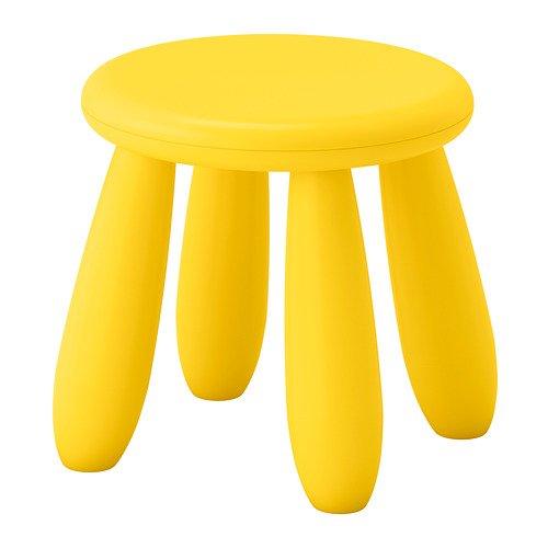 Ikea Mammut taburete niños amarillo 35x30x30
