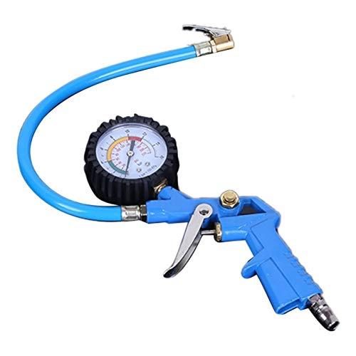Changskj Barómetro Nuevos neumáticos de automóviles Barómetros de neumáticos mecánicos Tablas de Prueba de presión de neumáticos Medidores de presión Herramientas de inflación (Color : Blue)