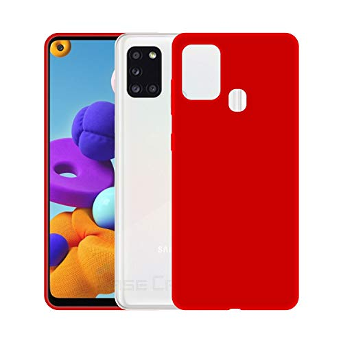 Case Creation Luxurious OG Series for Samsung A21s Case Cover,Anti-Dirty Slim Case Frosted Matte Cute Candy TPU Raised Bezel (Splash of Color) Back Cover for Samsung Galaxy A21s - Glamour Red