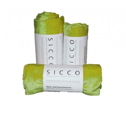 Wirth SICCO Set Sports 2x Handtuch 60 x 90 cm / 1x Duschtuch 70 x 130 cm Mikrofaser, Set, Handtuch Microfaser, grün