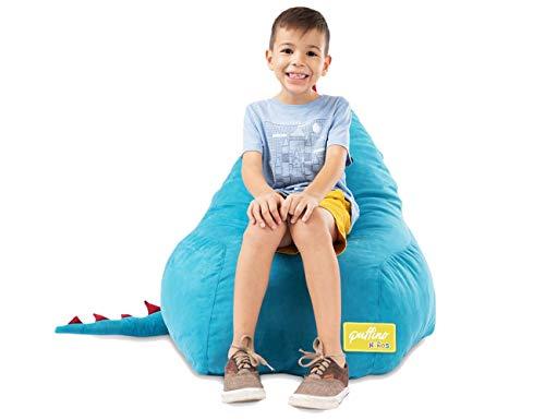 Sillón Puff Dinosaurio, en forma de pera, ideal para niños, súper cómodo y divertido, con tiernas púas, relleno de espuma sin...