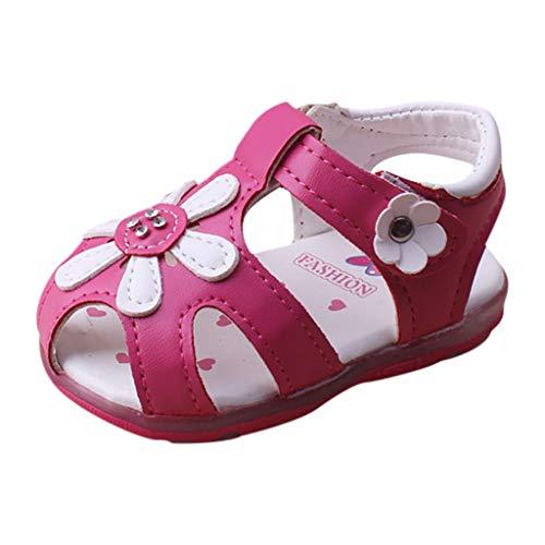 WINJIN Sandales Bébé Filles Chaussures D'été pour Enfants Plate Sneakers Baskets Mode Casual Sports Plage Mules Premiers Pas Infant Girls Toddler Chaussures de Princesse