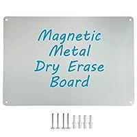 Houseables マグネットボード マグネットディスプレイ 掲示板 幅17.5インチ x 高さ12インチ 小型 金属 スチールシート 高耐久 装飾メモ ドライイレース 壁 冷蔵庫 書斎 子供用