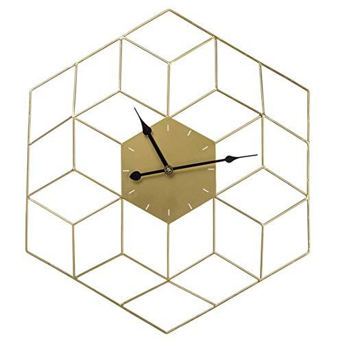 LXYZ Reloj de Pared Grande de 60 cm, Reloj de Pared silencioso Dorado Creativo Reloj de Pared Hueco de Metal para la Oficina del Bar del Hotel en casa