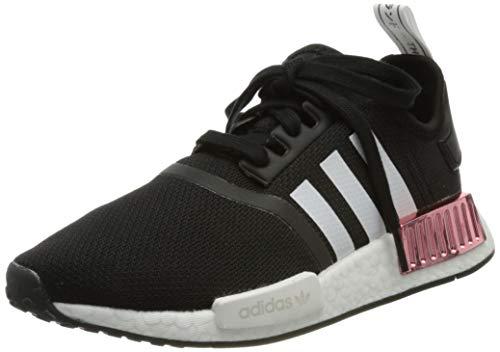 adidas NMD_R1, Sneaker Mujer, Core Black/Footwear White/Hazy Rose, 40 EU
