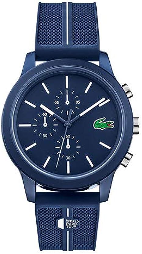 Lacoste Reloj Analógico para Hombre de Cuarzo con Correa en Silicona 02011091