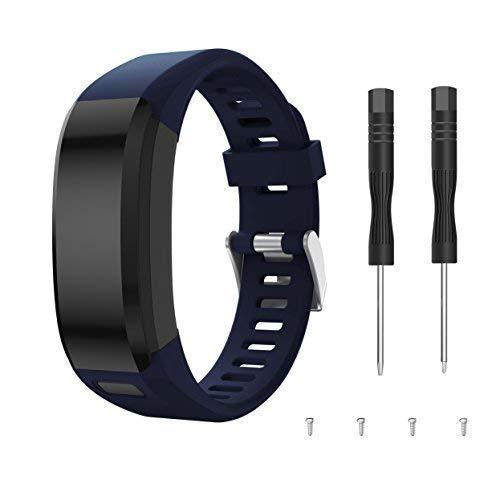 SUPORE Garmin Vivosmart HR Armband Uhrenarmband, Ersatzarmband, Zubehör Verstellbares Weiches Silikon Band Armbanduhren Entwickelt für Garmin Vivosmart HR Smart Watch