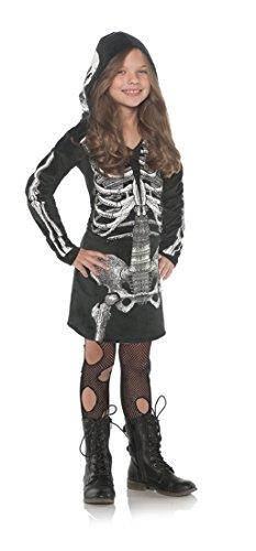 Underwraps Little Girl's Skeleton Bones Hoodie DressBlack Medium