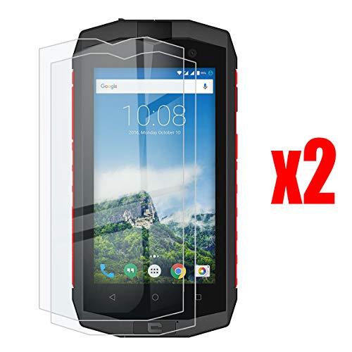 QFSM 2 Pack Film Protecteur pour Crosscall Trekker-M1 Core,9H Dureté Protection d'écran de téléphone Portable résistant à l'usure de Haute qualité en Verre trempé écran Glass Vitre Glace