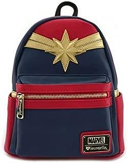 Captain Marvel Faux Leather Mini Backpack Standard
