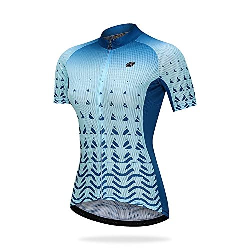 LALEO Maillot de Ciclismo Camiseta Ropa Paseo Manga Corta,Transpirable y Que Absorbe El Sudor,Secado Rápido,Mountain Bike/MTB Maillots