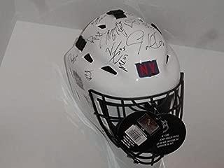 2018 New York Rangers Team Signed Winter Classic Goalie Helmet Citi Field - Autographed NHL Helmets and Masks