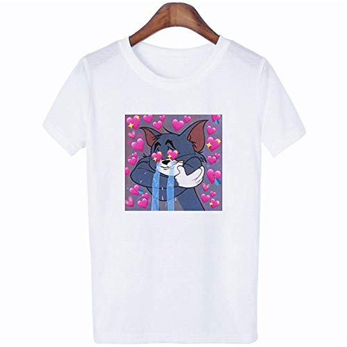 T-Shirt Women Being Caught Inthe Throat Funny Cartoon Tshirt Summer Casual Friend T-Shirt Tshirt Apply To Daily Use Exercise Running Cycling Gym Etc-16_XXXL