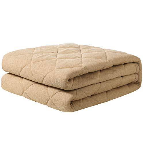 【Amazon.co.jp 限定】クモリ(Kumori) タオル地 敷きパッド 洗える サラサラパイル 汗取りベッドパッド 吸湿 速乾 マットレスカバー(クイーン・160X200cm ベージュ)