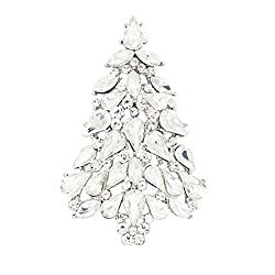 White Crystals Rhinestone Brooch