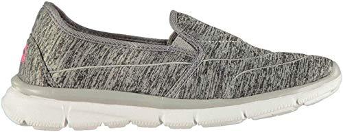 Slazenger Damen Zeal Slipper Schuhe Atmungsaktiv Grau Meliert/Weiß 39 1/3 EU