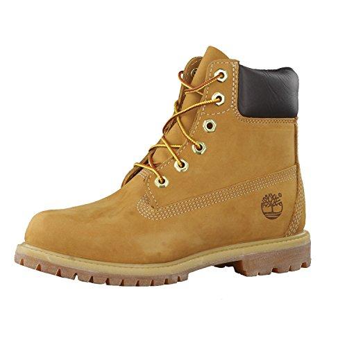 """Timberland Women's 6"""" Premium Waterproof Boot, Wheat Nubuck, 7 M US"""