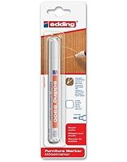 edding e-8900-1-4624 - Marcador para retocar muebles color Blanco puro, Retoca y repara arañazos y desperfectos