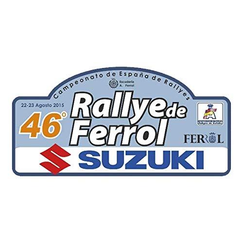 Pegatina Placa Rallye DE FERROL 2015 Adhesivo Vinilo PR342