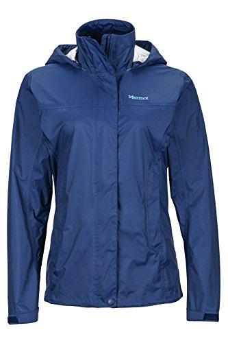 Marmot Womens PreCip Lightweight Waterproof Rain Jacket , Arctic Navy, Medium
