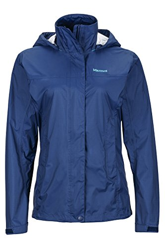 Marmot Womens Precip Lightweight, Waterproof Rain Jacket, Arctic Navy, Small