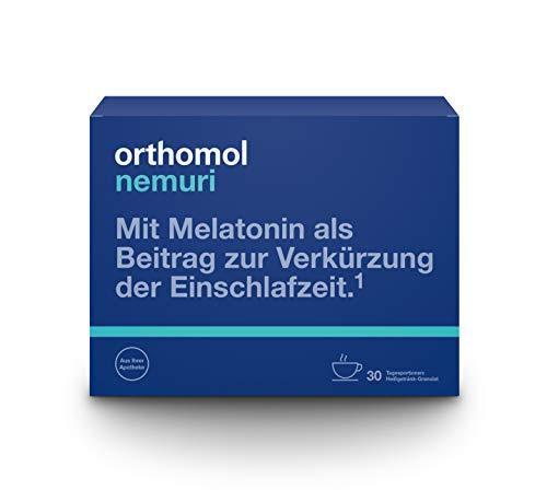 Orthomol nemuri 30er Granulat als Heißgetränk - Vitamine & Mikronährstoffe als Nahrungsergänzung für das Nervensystem