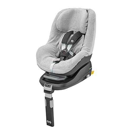 Maxi-Cosi 8736790110 Maxi-Cosi Sommerbezug, passend für alle Kindersitze der Maxi-Cosi Pearl Familie, Schonbezug Autositz, Bezug für die warmen Sommertage, Fresh Grey, grau