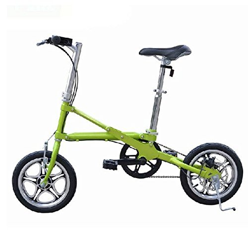 Buckdirect Worldwide Ltd. Folding Mini vžlos Bike 14pollici ruota di bicicletta di velocità ultra-lžger, Couleur vert