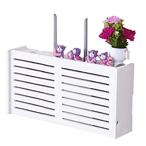 Wandmontierte WiFi-Aufbewahrungsbox, Wandaufhängung, Wifi-Router, Aufbewahrungsregal, TV-Box, dekorative Box, 42 x 20 x 8,5 cm