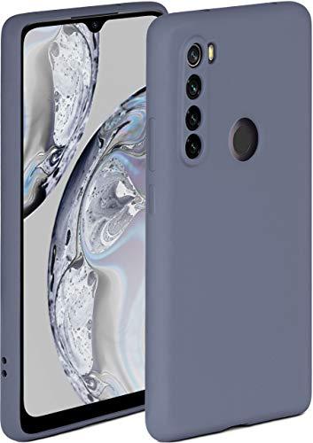 ONEFLOW Soft Hülle kompatibel mit Xiaomi Redmi Note 8T Hülle aus Silikon, erhöhte Kante für Displayschutz, zweilagig, weiche Handyhülle - matt Blau Grau