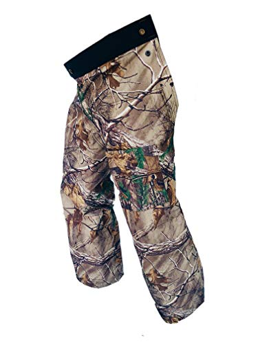 Forester Chainsaw Safety Chaps - Full Wrap Zipper - Real Tree Camo (Long (40') Fits Most 6' to 6'4' Tall)