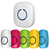 Zingers Attention Bell, Answer Buzzers For Classroom Educational Learning Games, also Great Tool for Activity Transitions, Buzzer for Game Show, 5 Color Push Buttons