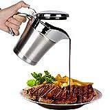 spier Jarra de acero inoxidable para salsas, aceitera, camping, salsas, jarra con aislamiento térmico, con tapa abatible