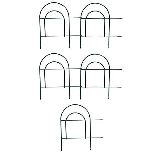 Cercado de Hierro para Jardín, Set de 5 Piezas Valla Simple Decorativa