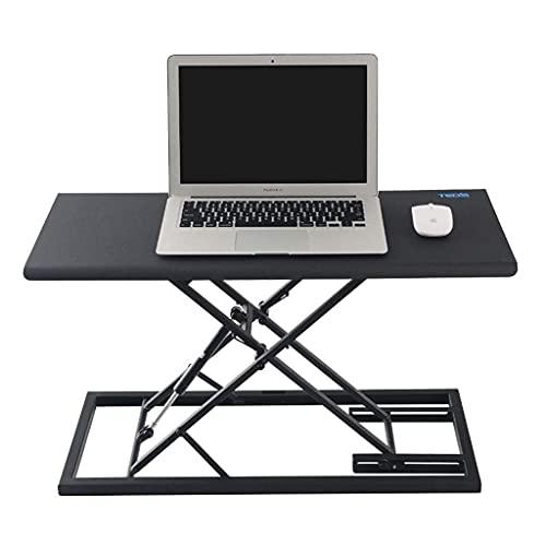 Datorarbetsstationer Ståbord Sit-Stand Höjdjusterbar skrivbord Bärbar datorbord Skrivbord Skrivbord som kan fällas 5 kg lätt och bärbart