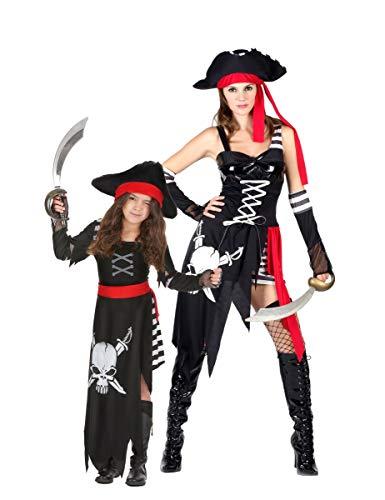 Generique - Costume Coppia da Pirata Madre e Figlia Taglia UnicaCostume Coppia da Pirata Madre e Figlia Taglia Unica