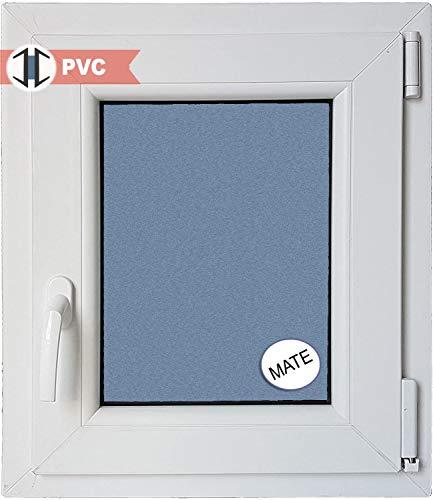 VENTANASTOCK - Finestra singola in PVC, con apertura lato sinistro, sistema anta-ribalta, in vetro Carglass, dimensioni: 500x600