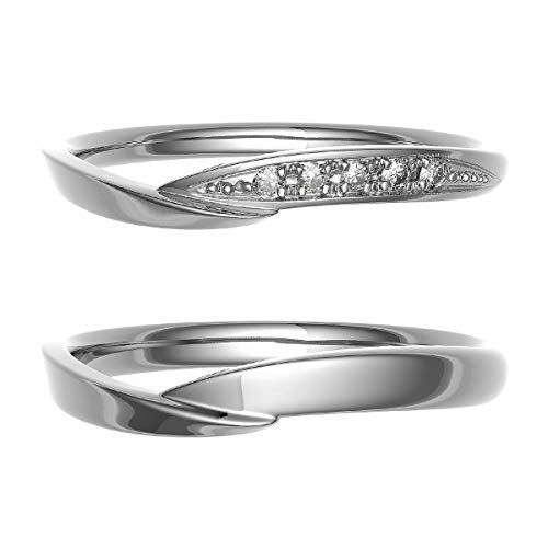 [ココカル]cococaru プラチナ Pt900 ペアリング 2本セット 結婚指輪 マリッジリング ダイヤモンド 日本製(レディースサイズ18号 メンズサイズ1号)