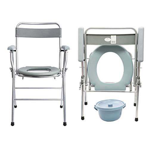 KYSZD-Cómodas Mesita de Noche Plegable con Inodoro, Incapacidad higiénica Ancianos Orinal, Respaldo ergonómico