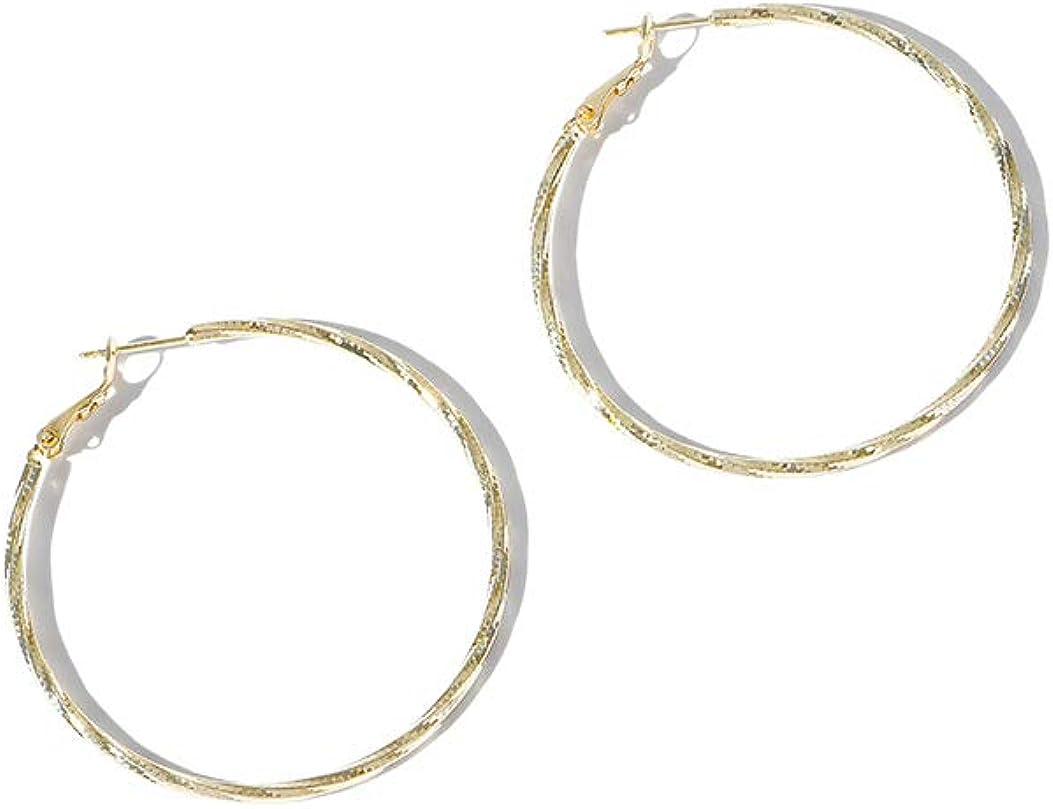 MAIDEARS 6mm 18K Gold Plated Hoop Earrings for Women Girls